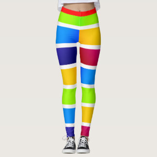 Colourful Bands Mardi Gras Carnival-esque2 Leggings