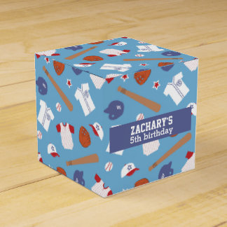 Colourful Baseball Theme Party Party Favor Box