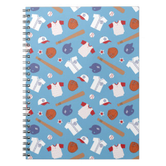 Colourful Baseball Theme Pattern For Boys Spiral Note Book