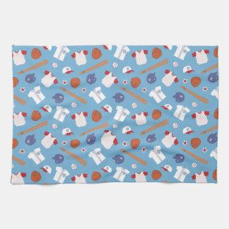 Colourful Baseball Theme Pattern For Boys Hand Towel