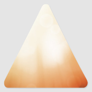 Colourful beautiful abstract blurred ray of colour triangle sticker