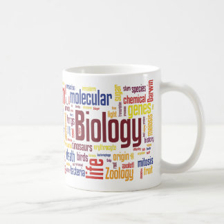 Colourful Biology Wordle Mug