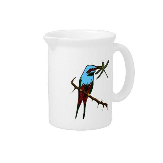 Colourful Bird Watcher Pitcher