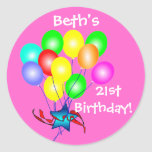 Colourful Birthday Balloons Stickers