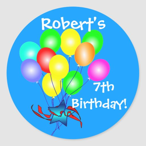 Colourful Birthday Balloons Stickers  Zazzle