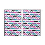 Colourful bling moustache pattern (Faux glitter)