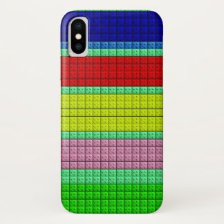 Colourful blocks pattern iPhone x case