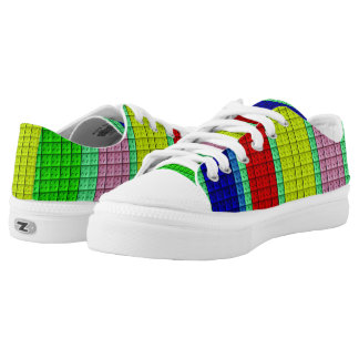 Colourful blocks pattern low tops