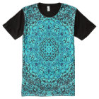 Colourful Blue Astral Travel Mandala Indie Art All-Over Print T-Shirt