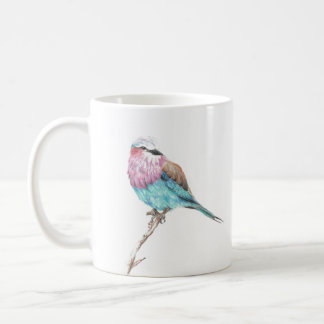Colourful Blue & Pink Perching Song Bird Coffee Coffee Mug