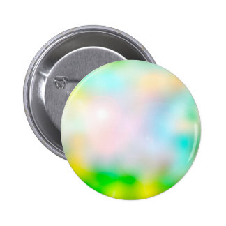 Colourful blurred flowers 6 cm round badge