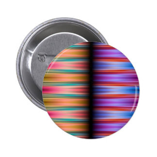 Colourful blurred stripes pattern 6 cm round badge