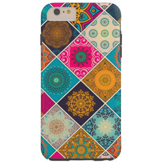 Colourful Bohemian Mandala Patchwork Tough iPhone 6 Plus Case
