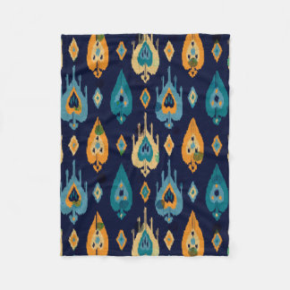Colourful Boho Abstract Feathers Pattern Fleece Blanket