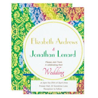 Colourful Boho Wedding invitation