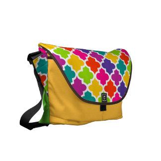 Colourful Bold Messenger Bag Tile Pattern Yellow