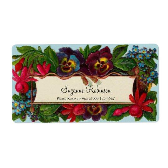 Colourful Bouquet Vintage Floral Label Shipping Label