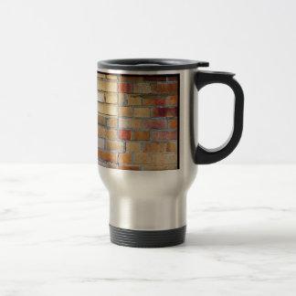 Colourful brick pattern travel mug