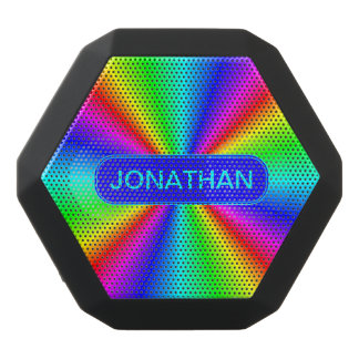 Colourful Bright Rainbow Personalize .. Black Bluetooth Speaker