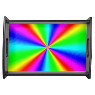 Colourful Bright Rainbow Serving Tray