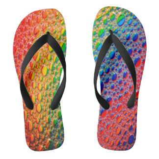 Colourful Bright Rainbow Thongs