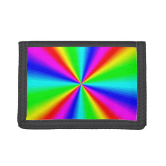Colourful Bright Rainbow Tri-fold Wallets