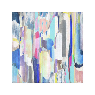 Colourful brushstrokes canvas print
