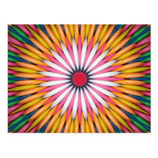 Colourful Bubble Gum Digital Art Postcard