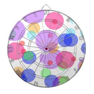 Colourful bubbles dartboard