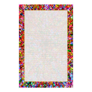 """Colourful Bubbles"" Fine Lined Stationery"