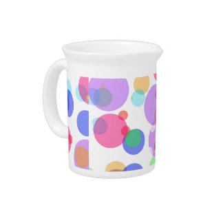 Colourful bubbles pitcher