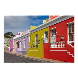 Colourful Buildings in Bo-Kaap, Cape Town Photo Art