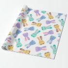 Colourful Bunny Pattern Wrapping Paper