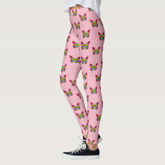 Colourful butterflies leggings