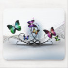 Colourful Butterflies Mouse Pad