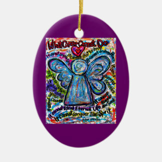 Colourful Cancer Angel Ornament Pendant Customised
