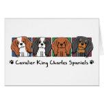 Colourful Cartoon Cavalier King Charles Spaniels