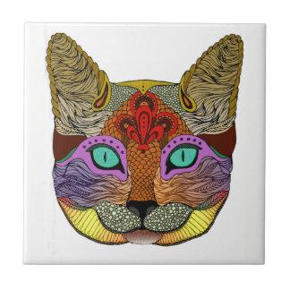 Colourful Cat Ceramic Tile