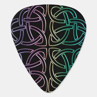 Colourful Celtic Knot Guitar Pick