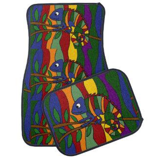 Colourful Chameleon Art Abstract Car Mat
