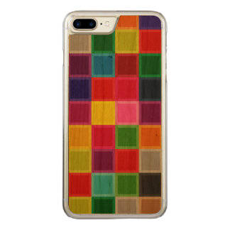 Colourful Cherry Wood Carved iPhone 7 Plus Case
