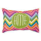 Colourful Chevron Pattern with Monogram Pet Bed