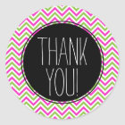 Colourful Chevron Thank You Sticker