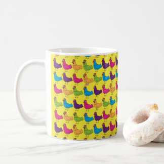 Colourful Chickens Mug