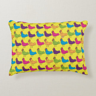 Colourful Chickens Pillow