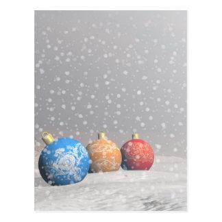 Colourful Christmas balls Postcard