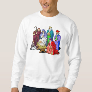 Colourful Christmas Nativity Scene Sweatshirt