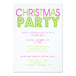 Colourful Christmas Party Personalized Announcement