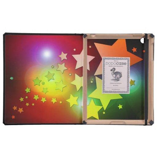 colourful Christmas stars lights iPad Folio Case