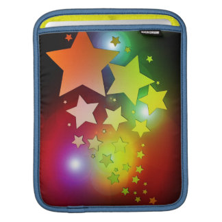 colourful Christmas stars lights Sleeve For iPads